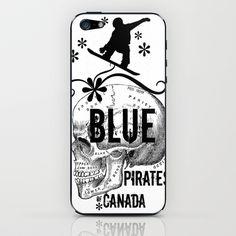 ipod skin, blue pirat