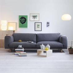 I love this grey couch