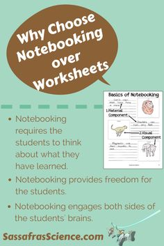 Why Choose Notebooking over Worksheets? | Sassafras Science