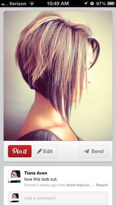 I just got this cut!  LOVE it! I HAVE TO HAVE THIS CUT!! and color!!