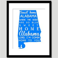 Sweet Home Alabama  Can do any color  by CoCoStineDesigns on Etsy, $15.00