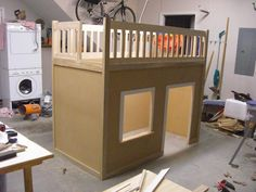 diy loft bed | Another great Loft bed | Do It Yourself Home Projects from Ana White playroom