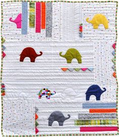What Colour Is An Elephant by Jen Kingwell -- pattern available at amitie.com.au