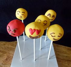 Emoticon Cake Pops