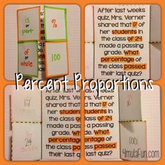 Percent Proportions Flippable to help students set up Percent Proportions and perfect for Interactive Notebooks