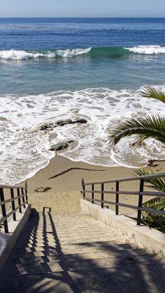 sandy beaches, stairway, beach houses, path, sea