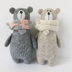 Stuffed bear, felt animals, teddy bears Earth friendly animal toys and rag dolls by AmuruToys on Etsy