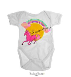 Baby Girl Clothes, Baby Girl Clothing, Baby Girl Gift, Funny Girl Shirts, Babygirl Clothes, Gifts for Baby Girl, I Poop Magic, Unicorn Shirt