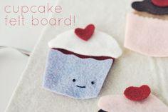 classroom idea, felt favorit, felt boards, felt cupcak, christma craft