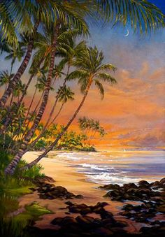 """""""Sunrise Sail"""" by Janet Spreiter at Maui Hands"""