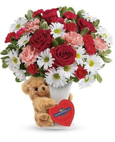 "Not sure how to say ""I love you?"" Teleflora's Send a Hug-Bear Your Heart Bouquet is a great gift for anyone special in your life. Reminder: Union members (like you!) save 25% off the listed price with your Union Plus Flower Service Discount --> click here: http://www.teleflora.com/flowers/bouquet/telefloras-send-a-hug-bear-your-heart-bouquet-555381p.asp?partner=unionplus&srccode=PP_SOCIAL_UP&promotioncode=SOCIALUP"