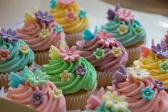 Pastel Butterfly Birthday Cupcakes