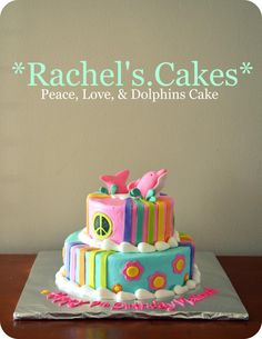 Peace-Love-&-Dolphins Cake