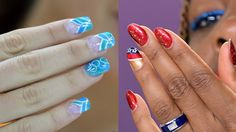 Olympians like Venus Williams sporting Olympic-theme nail art