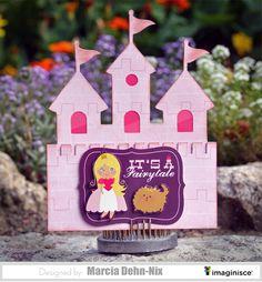 It's a Fairytale - Scrapbook.com - Castle shaped card perfect for a princess!