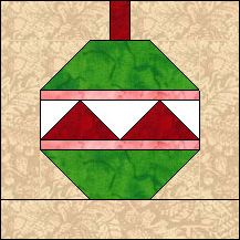 Block of Day for December 13, 2013 - Christmas Ornament #1