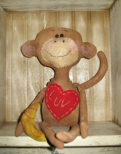 Primitive Monkey Love Doll E-pattern