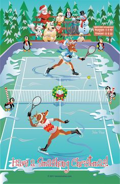 §§§ : Reindeer tennis match on ice