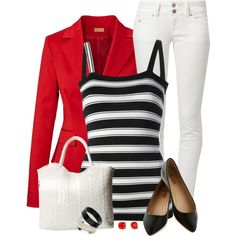 Black, White & Red, created by daiscat on Polyvore