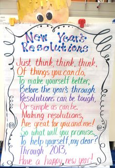 First Grade Wow: New Year's Resolutions