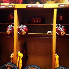 USC Trojans football locker room before the Fresno St game!!!