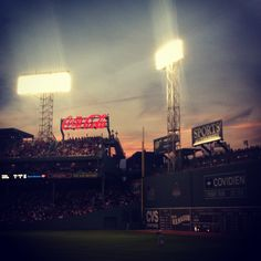 Fenway Park at sunset #baseball #travel #sunset #fenway #sports