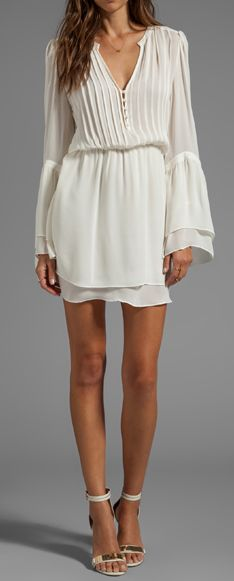 Flowy bell sleeve dress