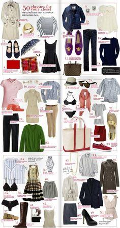 50 classics for your closet.