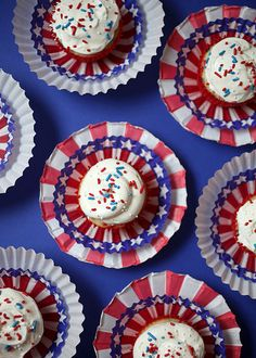more 4th of July Cupcakes