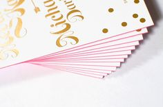 Pink and Gold Foil Wedding Invitations by Coral Pheasant via Oh So Beautiful Paper (4)
