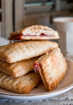 "Homemade Strawberry & Nutella ""pop-tarts"""