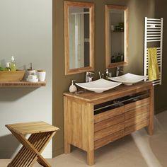Maison salle de bains on pinterest merlin rustic - Meuble miroir salle de bain leroy merlin ...