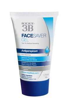 The new Face Saver Gel by Neat 3B is a lightweight, non-sticky antiperspirant that you can apply under your moisturizer to stop sweat. The active ingredient is aluminum zirconium tetrachlorohydrex glycine, which is the same thing used in most body antiperspirants. It works almost like a primer, getting rid of excessive wetness and helping your makeup to stay on for longer.