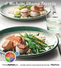 Seared Scallops with Snow Peas and Orange #myplate #letsmove #fish