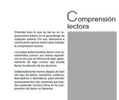 comprension lectora 5º