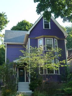 Purple house....lovely!