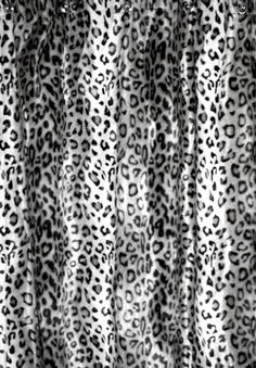 Snow Leopard Animal Essence Faux Fur Shower Curtain.  $196.00 SALE $178.00 window curtains, shower curtains, snow leopard, leopard bathroom