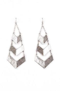 Cascade Earrings in Silver