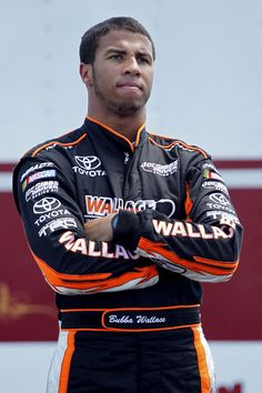 http://www.facebook.com/darrellwallacejr18  https://twitter.com/BubbaWallace  Aside from the obvious, Darrell Wallace Jr. is making history in every regard. Plus, he loves his momma, is supposed to be really down to earth, and is SUCH a cutie. Can't wait to see more of him in Nationwide in '13!  Bubba Wallace, marry me?