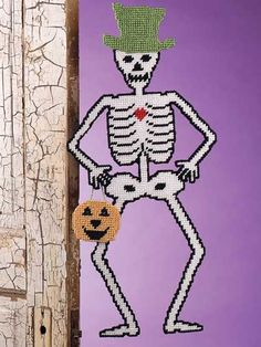 Plastic Canvas Skeleton