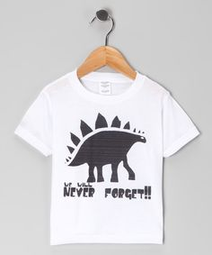 White 'Never Forget' Dino Tee - Infant, Toddler & Boys