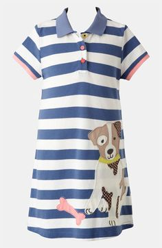 Mini Boden 'Fun' Appliqué Polo Dress (Toddler, Little Girls & Big Girls) available at #Nordstrom - I want this dress for myself ;)