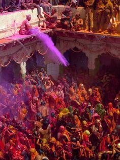 India (Holi, the Hindu festival of colour and spring)