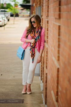 White denim goes with... Everything! cc: @Laura Jayson Boswell Walking in Memphis in High Heels