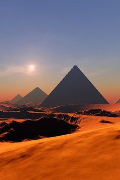 The Pyramids of Giza. Egypt. Constructed 2630 BC–2611 BC
