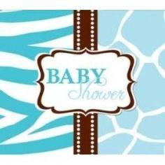 Free blue baby shower invitations