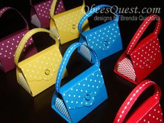 Qbee's Quest: Scalloped Tag Topper Punch Purse Tutorial