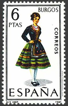 Collection of Spanish stamps:  1967 Burgos