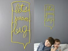 diy wire typography sign