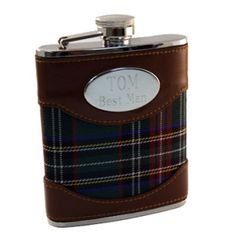Tartan Flask with Crest #thingsengraved #thingsengravedgifts #plaid